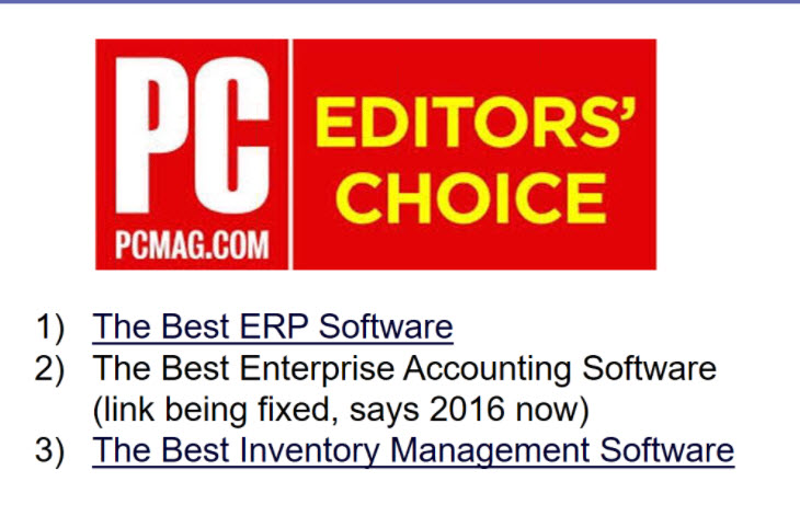 Acumatica Editors Choice PC Mag