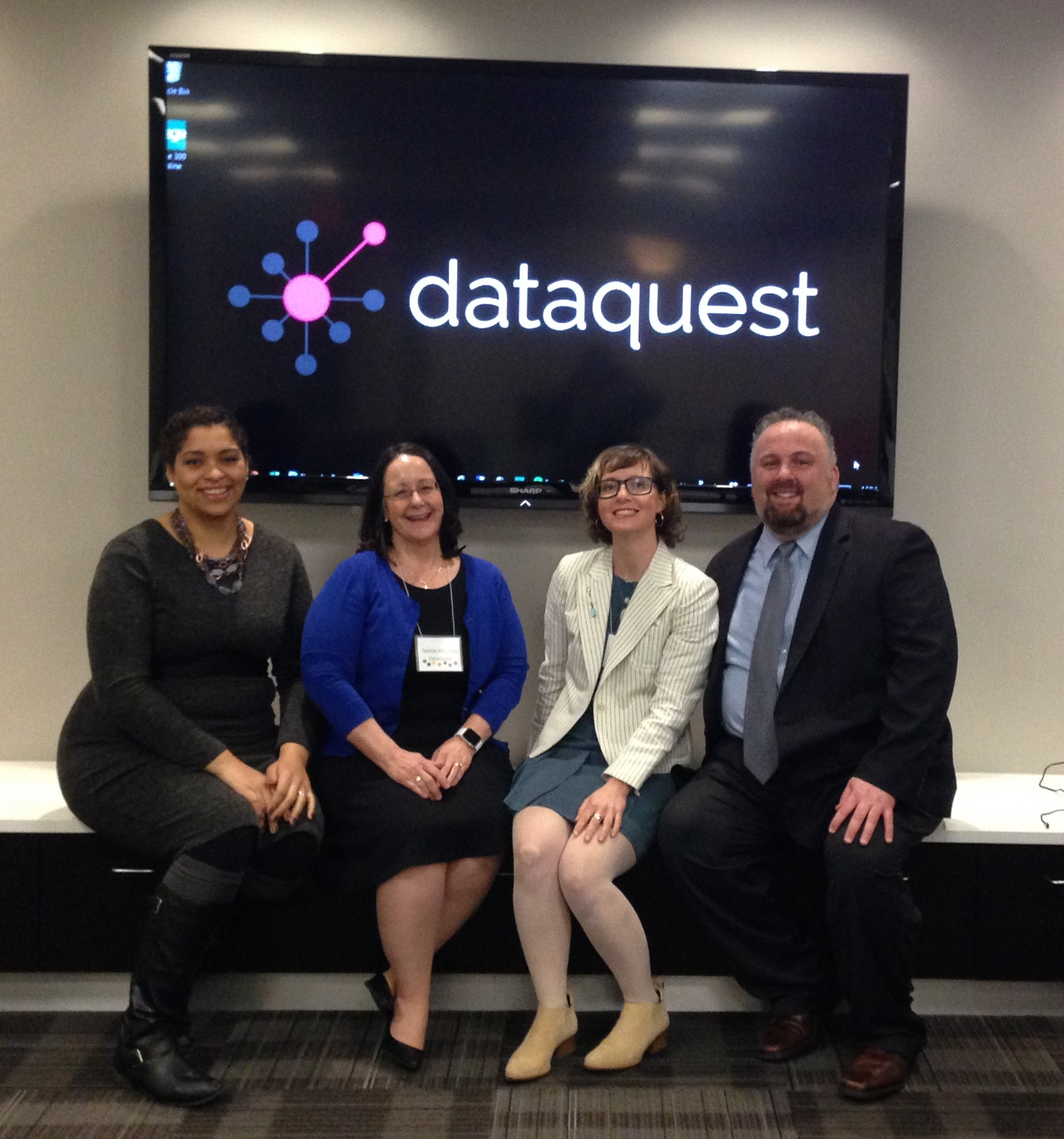 Marga Englehardt, Debbie Mazzullo, Arline Welty and Mark Binkley of DataQuest, Inc. at the Chicago Customer Event