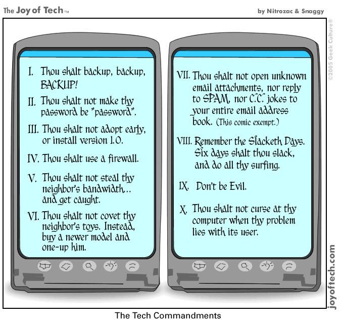 Tech Commandments