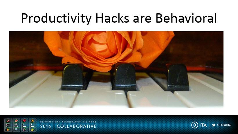 Productivity Hacks are Behavioral