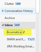acumatica inbox