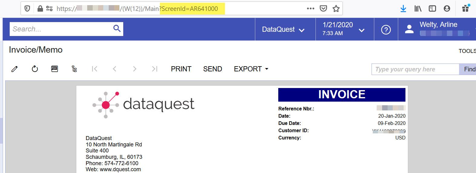 Acumatica Report Designer Invoice