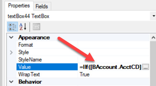 Acumatica Business Forms Conditional Logic