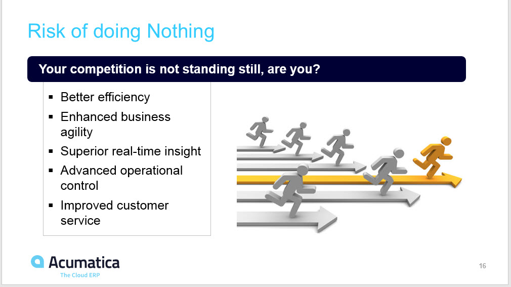 Acumatica Risk of Doing Nothing