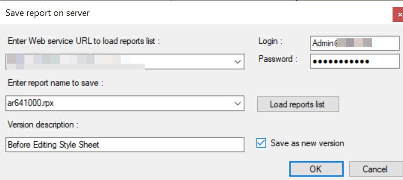 Acumatica Report Designer versions
